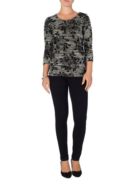 Phase Eight Fiona flocked top