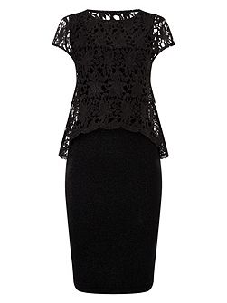 Lexus lace knit dress