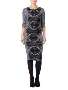 Phase Eight Jaida placement jacquard dress