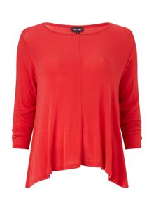 Phase Eight Dory dip hem jersey top