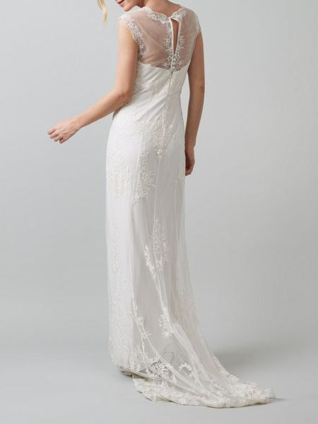 Phase Eight Oriana embroidered wedding dress