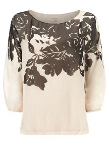 Ashlyn oversized silk blouse