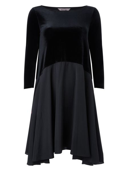 Phase Eight Velvet swing dress