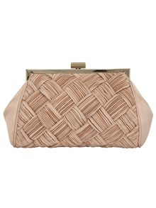 Alexie pleated satin bag