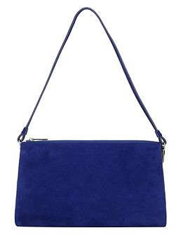 Rosie suede clutch bag