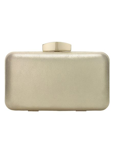 Phase Eight Annie suede box clutch bag