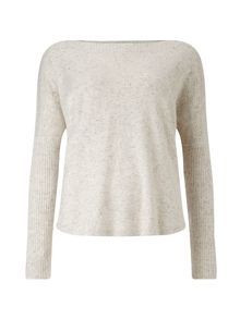 Ally woven back knit top