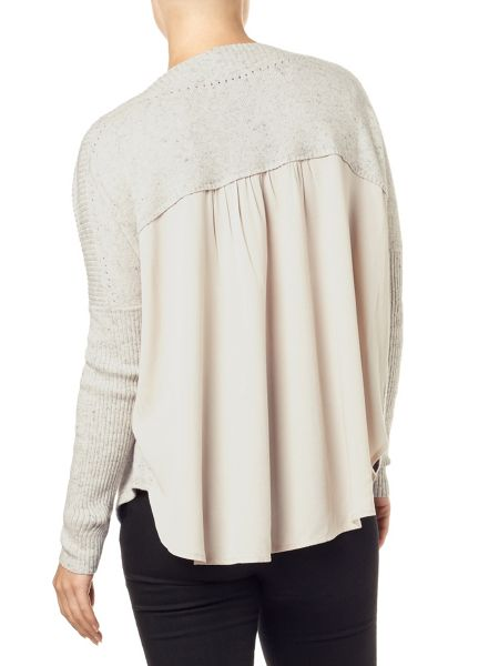 Phase Eight Ally woven back knit top