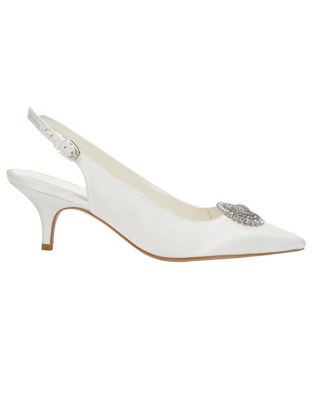 Phase Eight Issy detachable jewel trim kitten heel