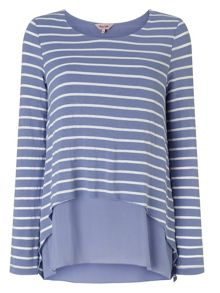 Phase Eight Ciera layered stripe top
