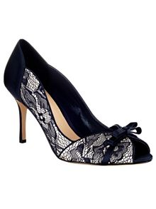 Phase Eight Mia Lace Peep Toe Shoes