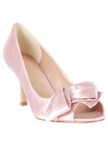 Eva satin peep toe shoes