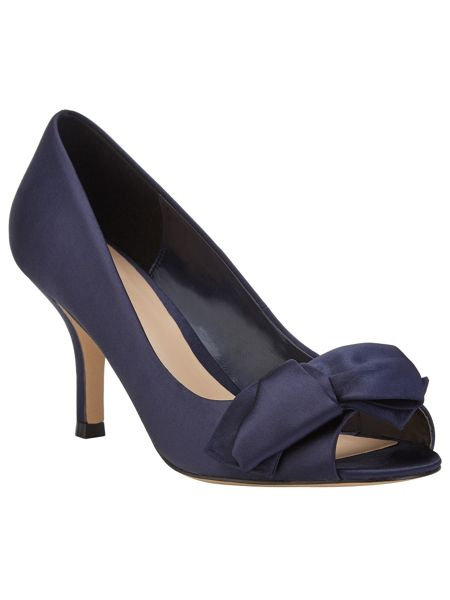 Phase Eight Eva satin peep toe shoes