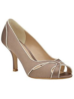 Phase Eight Lillie satin peep toe shoes