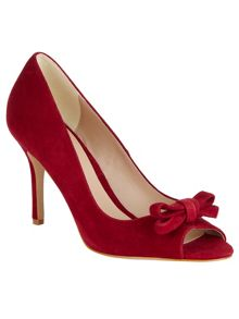 Elena suede peep toe shoes