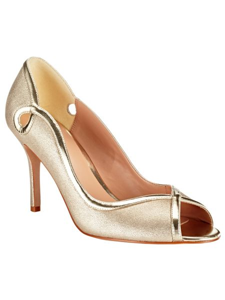 Phase Eight Annie leather peep toe shoes