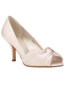 Milly satin twist peep toe