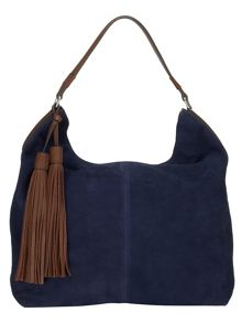 Harper suede hobo bag
