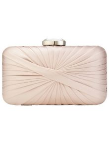 Phase Eight Millie twist satin clutch