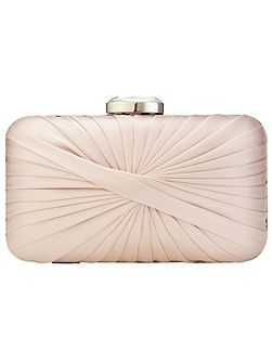 Millie twist satin clutch