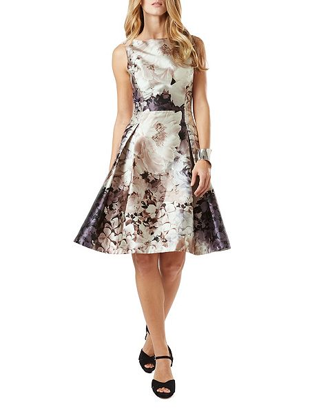 Phase eight casey floral dress brown house of fraser for Brown dresses for wedding guest