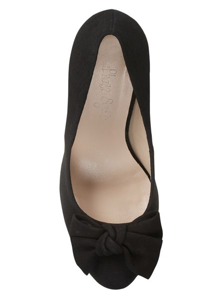Phase Eight Amber suede bow court shoes