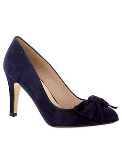 Amber Suede Bow Court Shoes