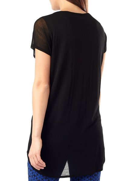 Phase Eight Carson sheer knit woven top