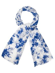 Phase Eight Delft print scarf