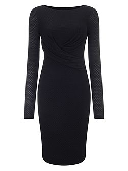 Latticia long sleeve dress