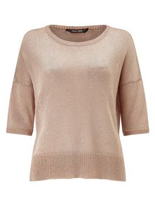Mea shimmer necklace knit jumper