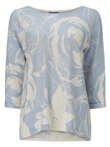 Phase Eight Donelle Print Knit Top