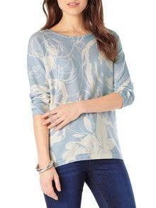 Donelle Print Knit Top