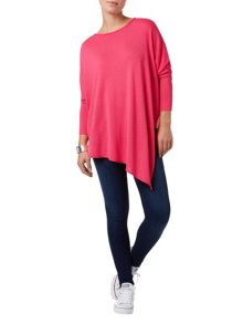 Melinda asymmetric knit top
