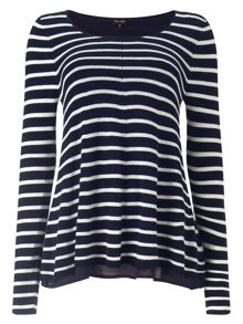 Cali-Anne Stripe Knit Top