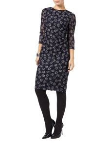 Phase Eight Textured lace spot dress