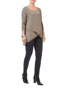 Phase Eight Tanya cross hem top