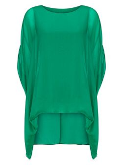 Layla oversized silk blouse