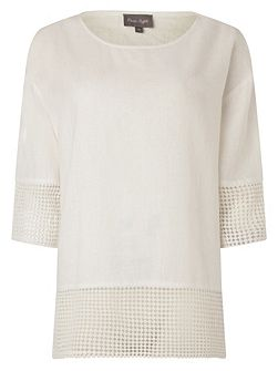 Phase Eight Lucie Lace Trimmed Blouse