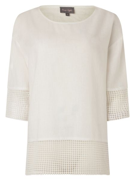 Phase Eight Phase Eight Lucie Lace Trimmed Blouse