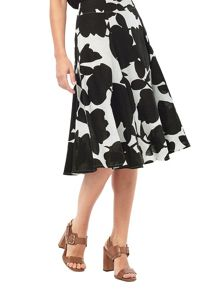 Phase Eight Phase Eight Fleur Print Linen Skirt