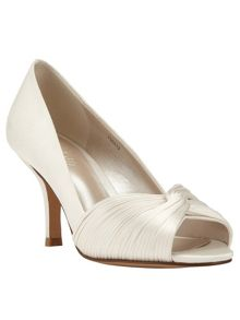 Phase Eight Milly satin twist peep toe