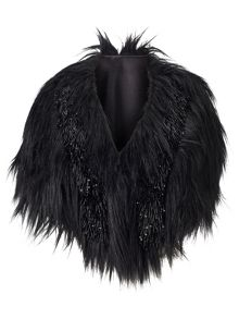 Phase Eight Beaded Fur Cape