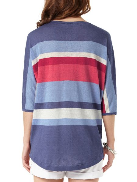 Phase Eight Sarah Stripe Linen Knit Jumper