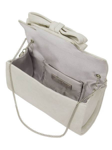 Phase Eight Elena Suede Bow Clutch Bag