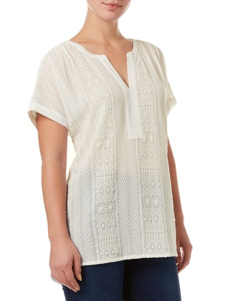 Phase Eight Eddie embroidered top