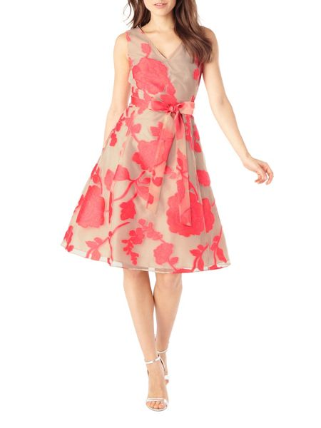 Phase Eight Calista Burnout Fit and Flare Dress