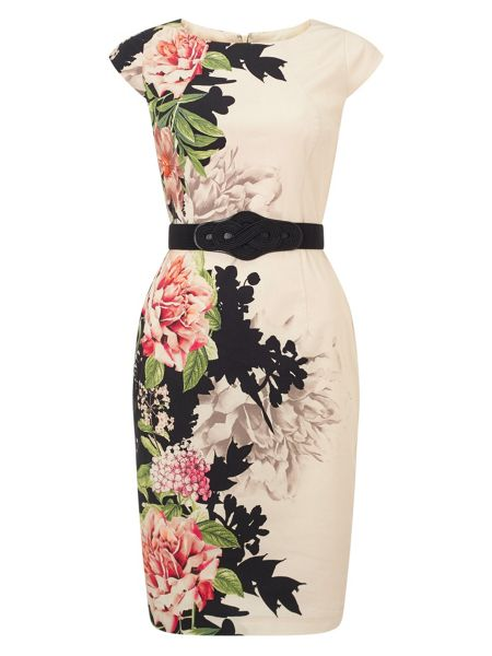 Phase Eight Arum floral placement dress