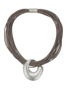 Madison leather necklace