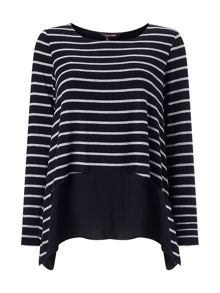 Ciera layered stripe top